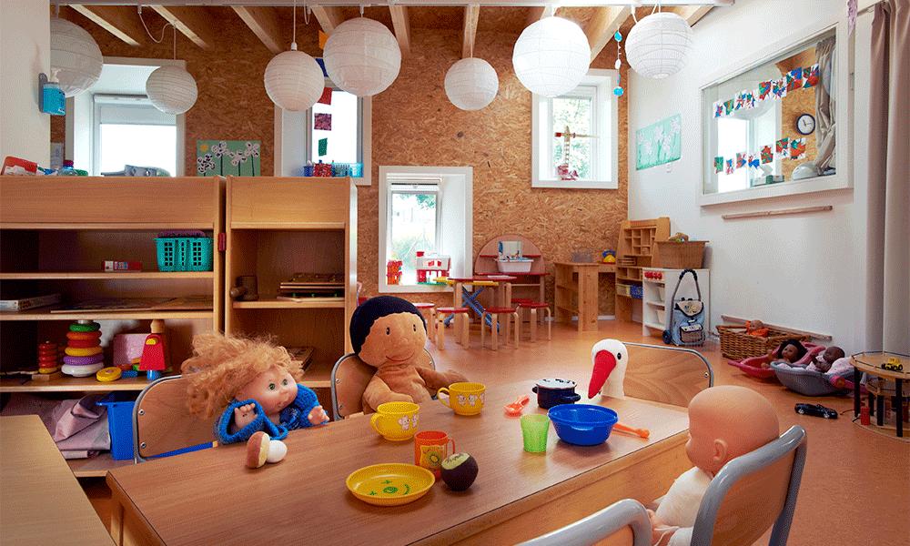 Salle de classe en bois
