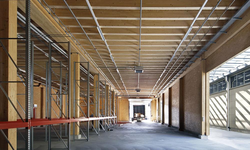 Structure bois de la Halle Diffulivre