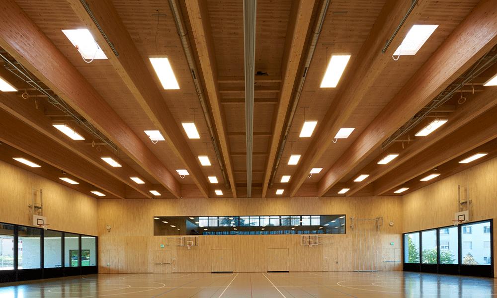 Vue extérieure de jour de la Salle polyvalente de Cossonay