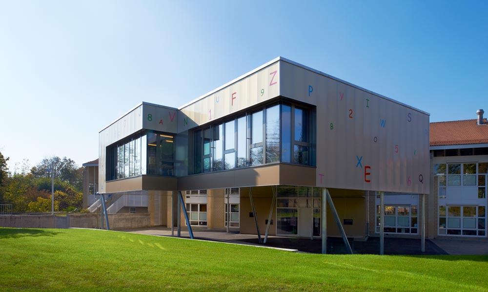 Collège de Lully vu de l'extérieur