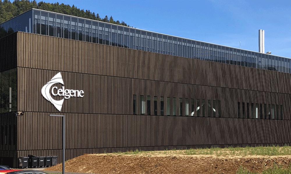 Vue extérieure de l'usine Celgene