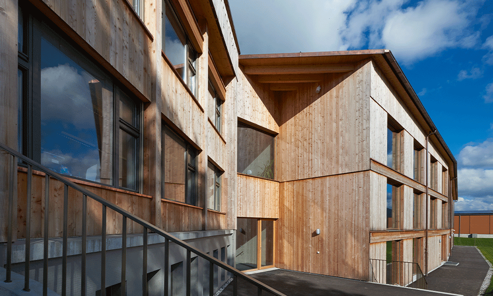 façade en bois de la Verrerie