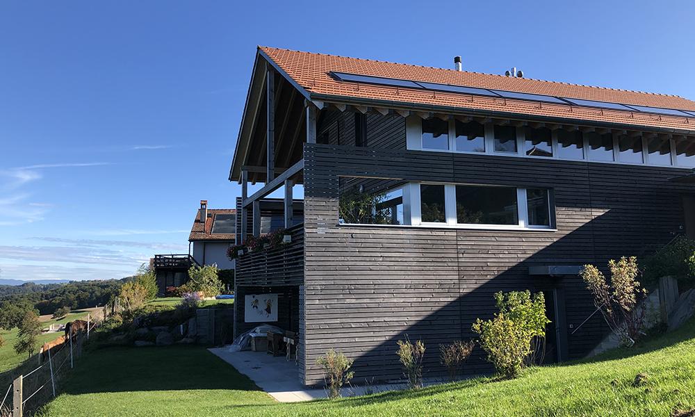 Villa Guex en bois vue d'extérieur