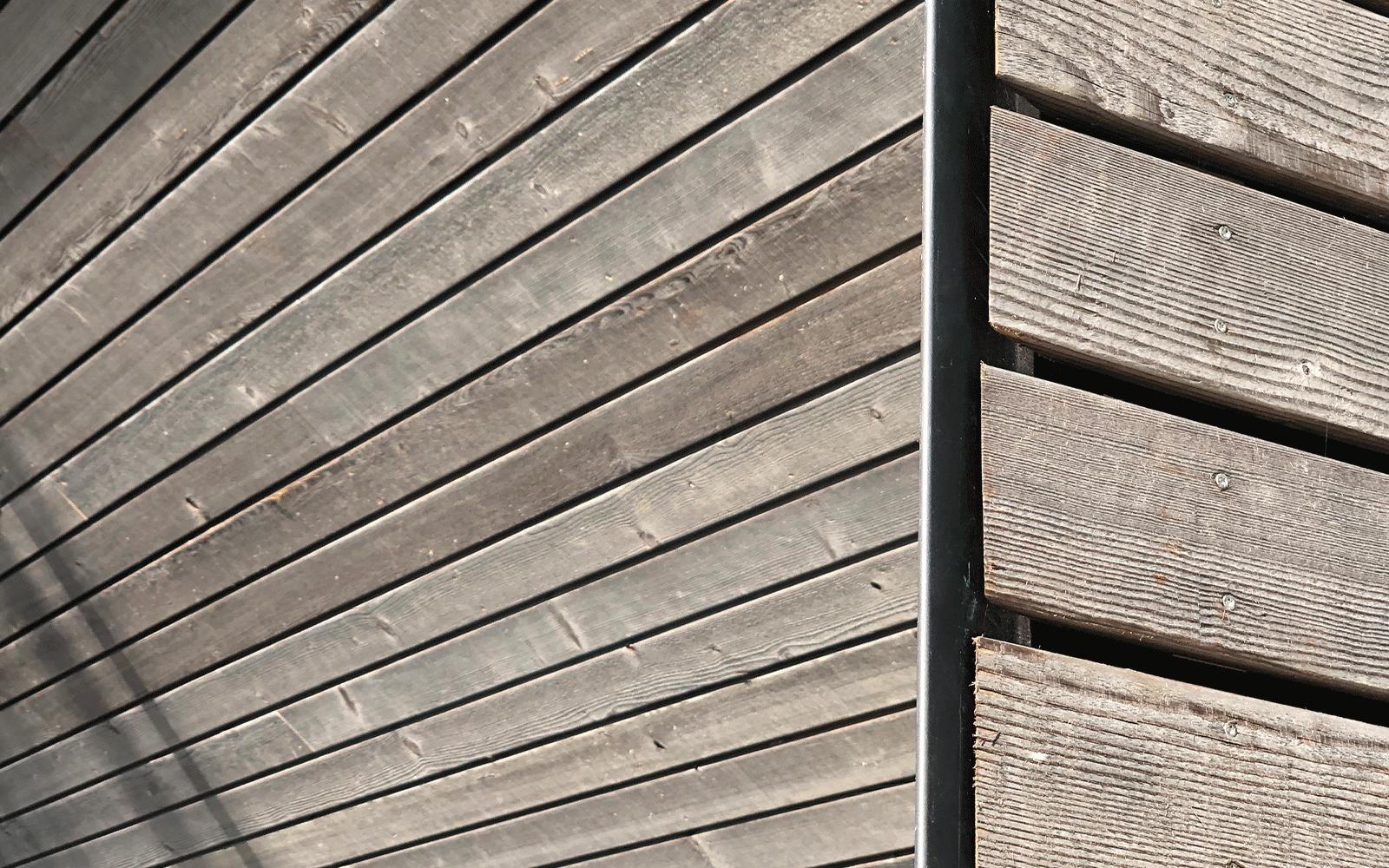 Bardage bois pré-grisaillé